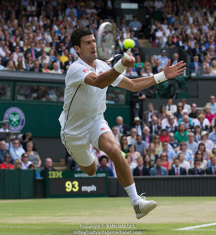 NOVAK DJOKOVIC (SRB) The Championships Wimbledon 2014 - The All England Lawn Tennis Club -  London - UK -  ATP - ITF - WTA-2014  - Grand Slam - Great Britain -  6th July 2014.  © AMN IMAGES (FREY/FREY- AMN Images)