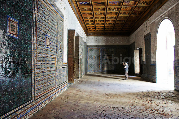 Photographs from the stunning stately home of Casa de Pilatos in Seville (Sevilla.) This building features mudejar tiles, arches, columns and beautiful gardens in Andalucia (Abigail King)