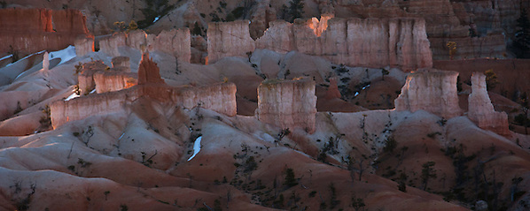 Hoodoos glowing at Sunrise - Bryce Canyon, Utah (Thierry Carlier)