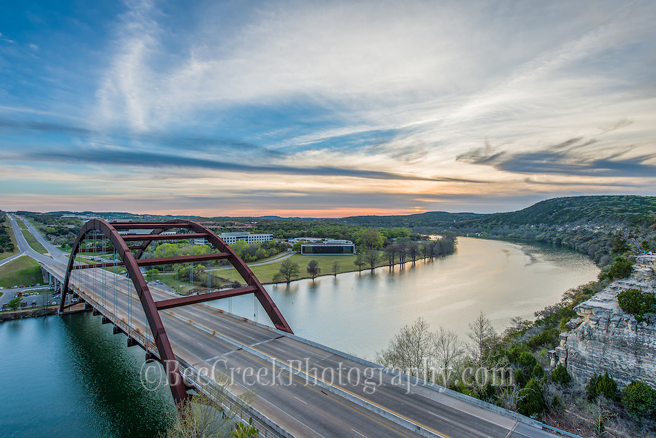 D80 5098Pennybacker bridge Sun set 360 (pennybacker) bridge