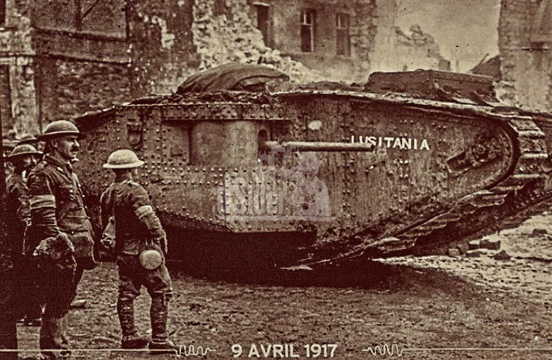 British World War I tank at The Battle of Arras. 9th April 1917 (Bill Bagshaw/M. Williams)