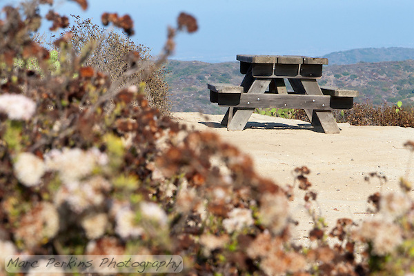The campgrounds at Crystal Cove are very nice.  They have no water supply, but otherwise have everything you could ask for: picnic tables, trash cans, bathroom, and lots of clear flat areas to set up tents. (Marc C. Perkins)