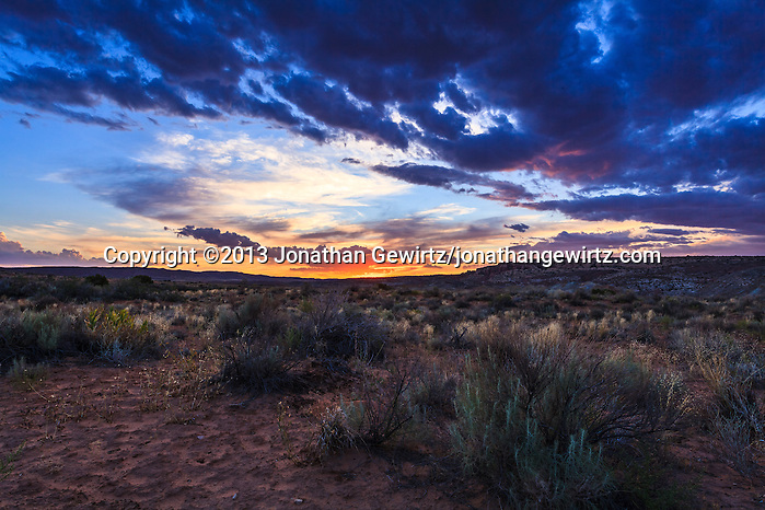 Day's end on the desert floor in Arches National Park, Utah. WATERMARKS WILL NOT APPEAR ON PRINTS OR LICENSED IMAGES. (© 2013 Jonathan Gewirtz / jonathan@gewirtz.net)