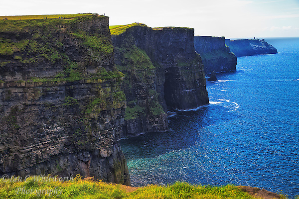 Looking along the beautiful scenic Cliffs of Moher in southwest Ireland. (Ian C Whitworth)
