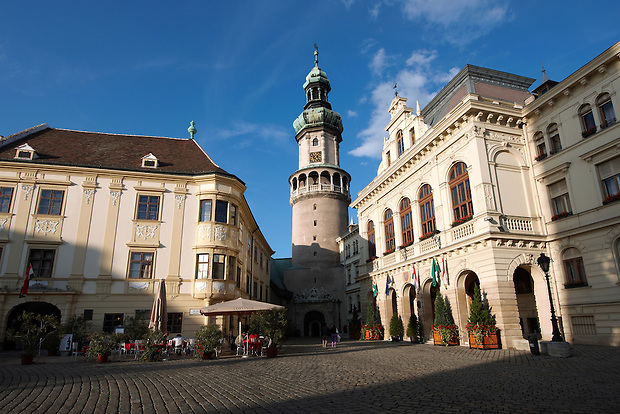 The Fire Tower (T?ztorony) with the Town Hall - Sopron, Hungary (Paul Williams)