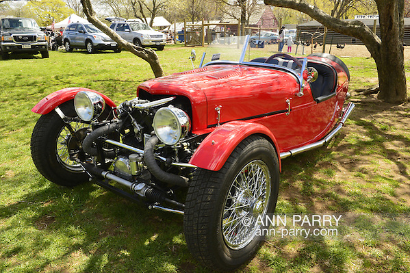 Floral Park, New York, U.S. - A red BRA CX3, a custom Beribo Replica Automobiles kit vehicle at the 35th Annual Antique Auto Show at Queens Farm. (© 2014 Ann Parry, ann-parry.com)