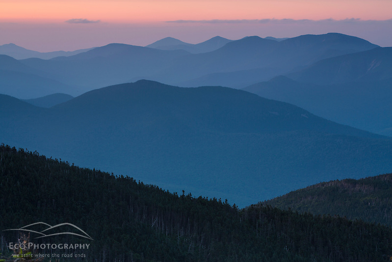 The Power of Place: Northern Pass Documentary. The view from South Kinsman Mountain at dawn. New Hampshire's White Mountains. (Jerry Monkman)