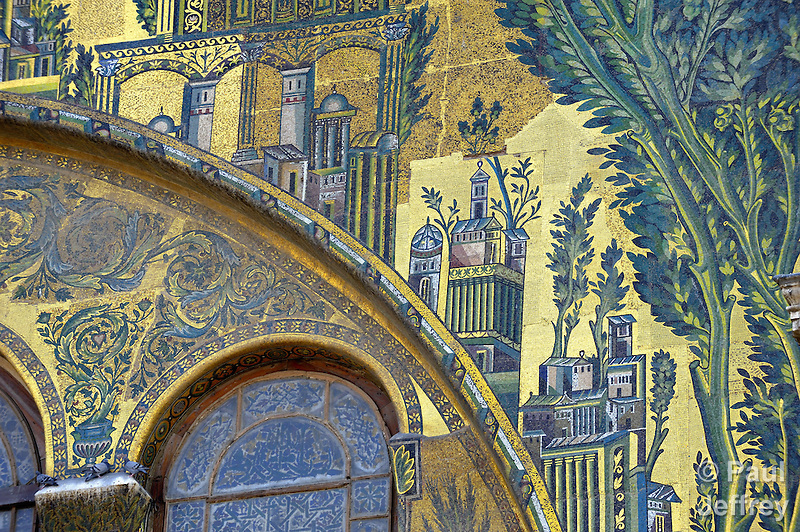 A detail in the Umayyad Mosque, also known as the Grand Mosque of Damascus, is one of the largest mosques in the world, and one of the oldest sites of continuous prayer since the rise of Islam. A shrine in the mosque is said to contain the head of John the Baptist. (Paul Jeffrey)