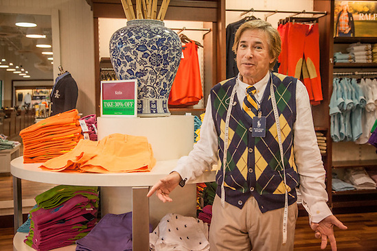 """Let me explain the way our sale is structured.""        -Sales Associate at the Ralph Lauren Outlet Store, St. Augustine, Florida (© Clark James Mishler)"