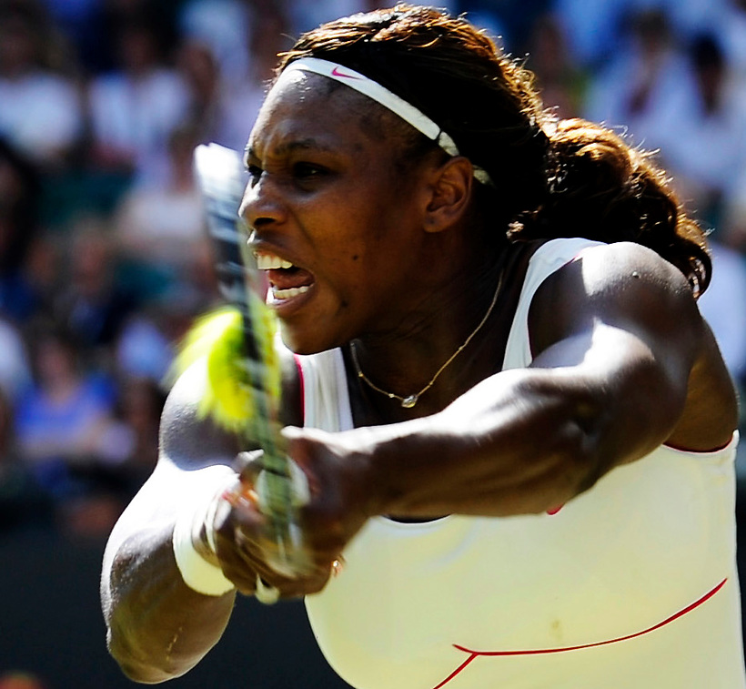 28TH JUNE 2010, WIMBLEDON TENNIS CHAMPIONSHIPS, SERENA WILLIAMS IN ACTION AGAINST MARIA SHARAPOVA, ROB CASEY PHOTOGRAPHY (ROB CASEY/ROB CASEY PHOTOGRAPHY)