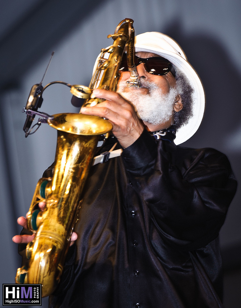 Sonny Rollins playing at the New Orleans Jazz and Heritage Festival in New Orleans, LA on the final day of the festival. (Golden G. Richard III)
