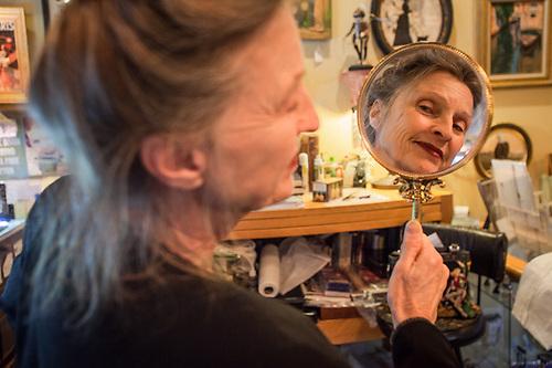 Sherry McMahon at Papillion II Antiques, Cottonwood, AZ  pinkladyjerome@yahoo.com (© Clark James Mishler)