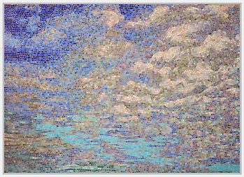 Custom 5' x 7' Impressionist Sky panel in Jewel Glass (Picasa)