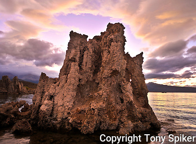 &quot;Mono Lake Tufa at Sunset 1&quot; - A  photograph of a storm clearing over the Tufa Towers at Mono Lake at sunset. (Tony Spiker)