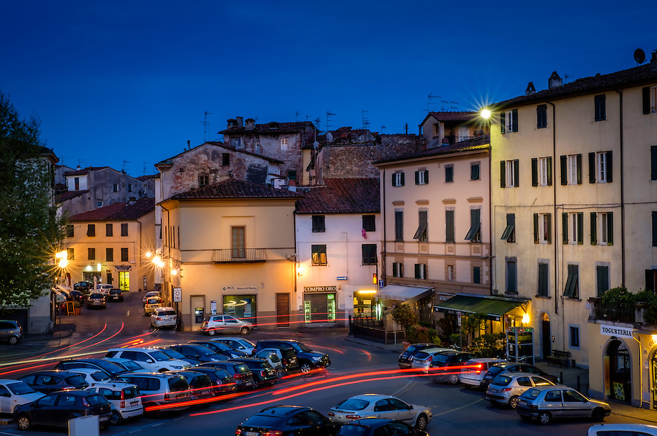 LUCCA ITALY - CIRCA MAY 2015: Walled city of Lucca at night, an historic town in Tuscany (Daniel Korzeniewski)