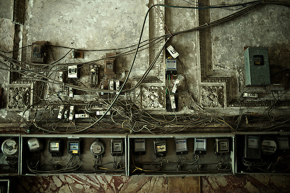 Images from the old Havana, Cuba, Latin America. ..This, like many other apartment complex, have evolved to accommodate many families over the years, and in the process, the need for separate electricity bills has created a mess out of the unplanned electrical wiring.  A pretty common site in old Havana. (Martin Herrera Soler/Martin Herrera)