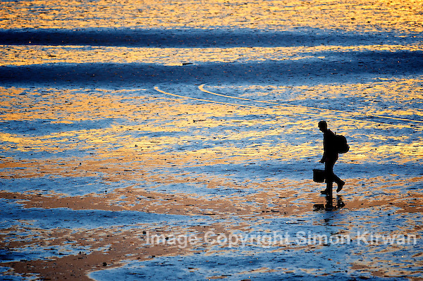 Sea Coal Collector Southport Beach - photo by Simon Kirwan