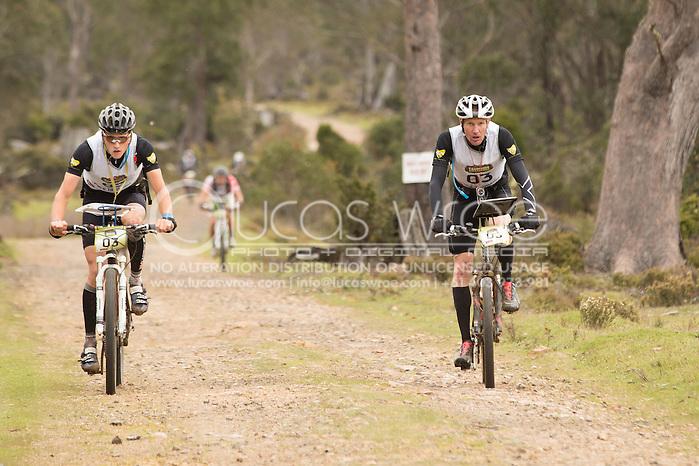 Team Pure Tasmania (Alex Hunt and Mark Hinder). Adventure Racing. Swisse Mark Webber Challenge 2013. Tasmania, Australia. 28/11/2013. Photo By Lucas Wroe (Lucas Wroe)