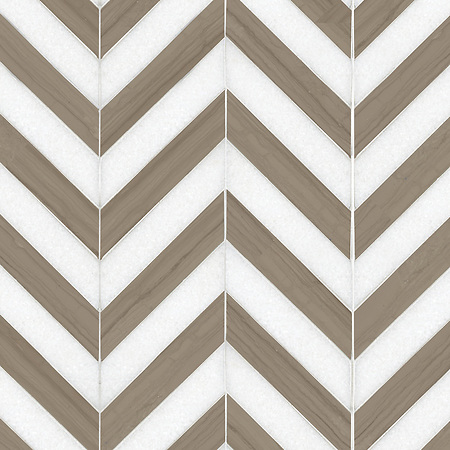"Name: Maharaja Stripe 2 Style: Contemporary Product Number: NRFMAHST2 Description: 24""x 24"" Maharaja Stripe 2 in Thassos, Driftwood (p) (New Ravenna ®)"