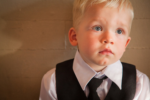 Two and a half year old ring barrer, Davis, at Amie and Matt Sulivan's wedding in Seattle. (Clark James Mishler)