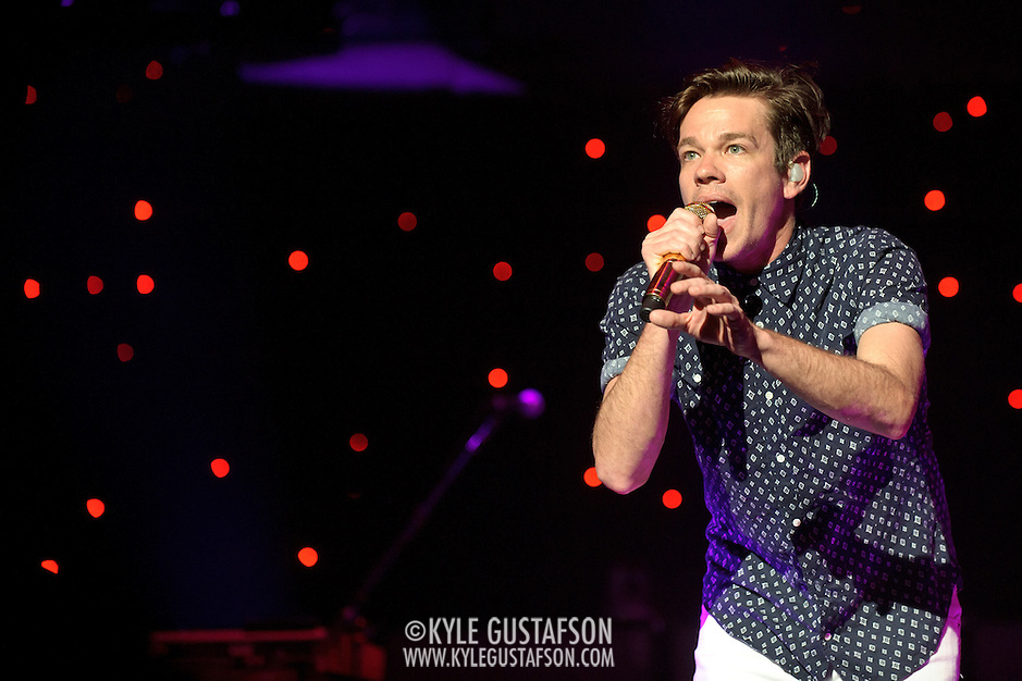 """WASHINGTON, DC - January 31st,  2013 - Nate Ruess of fun. performs at DAR Constitution Hall in Washington, D.C. The band is still riding high off of the success of their sophomore album """"Some Nights"""" which featured with hits """"We Are Young"""" and the title track. (Photo by Kyle Gustafson/For The Washington Post) (Kyle Gustafson/For The Washington Post)"""