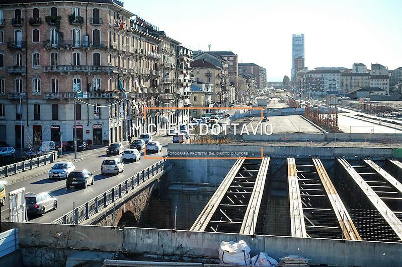 Torino 12/01/2016  apertura alla viabilità della spina centrale nel tratto di corso Principe Oddone. (Michele D'Ottavio | buenavista)