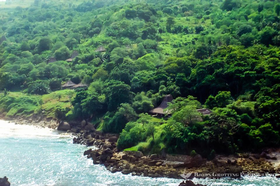 East Nusa Tenggara, Sumba. Nusa Tenggara, Sumba. Village on west Sumba (from helicopter). (Photo Bjorn Grotting)