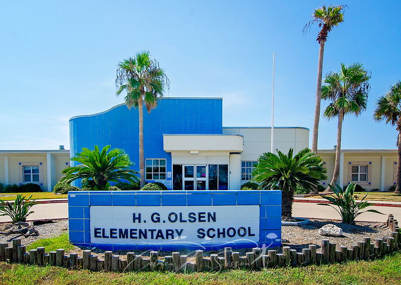 H.G. Olsen Elementary School is pictured, Aug. 24, 2018, in Port Aransas, Texas. The school was one of many Texas schools heavily damaged by Hurricane Harvey in 2017. Students in the Port Aransas Independent School District were unable to return to campus until mid-October. The majority of Port Aransas students enrolled in the Flour Bluff Independent School District until their schools were repaired. (Photo by Carmen K. Sisson) (Carmen K. Sisson/Cloudybright)