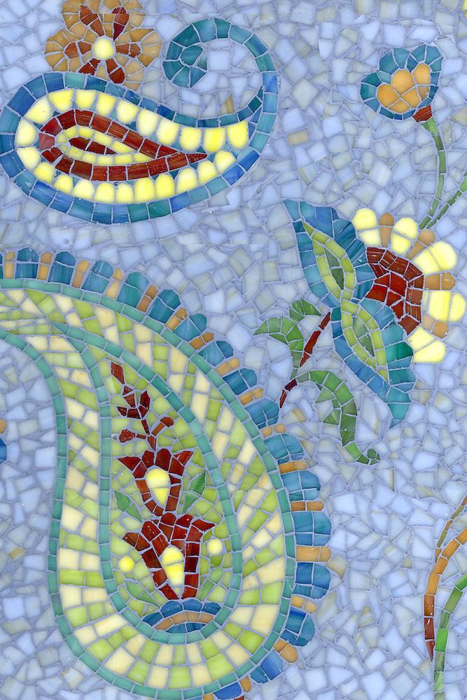 Name: Paisley Vine (glass) Style: Glass Product Number: CB0631G Description: Paisley Vine (glass) in glass Chalcedony, Citrine, Peridot, Aventurine, Carnelian,Tiger's Eye, Peacock Topaz, Quartz, Amber (New Ravenna Mosaics)