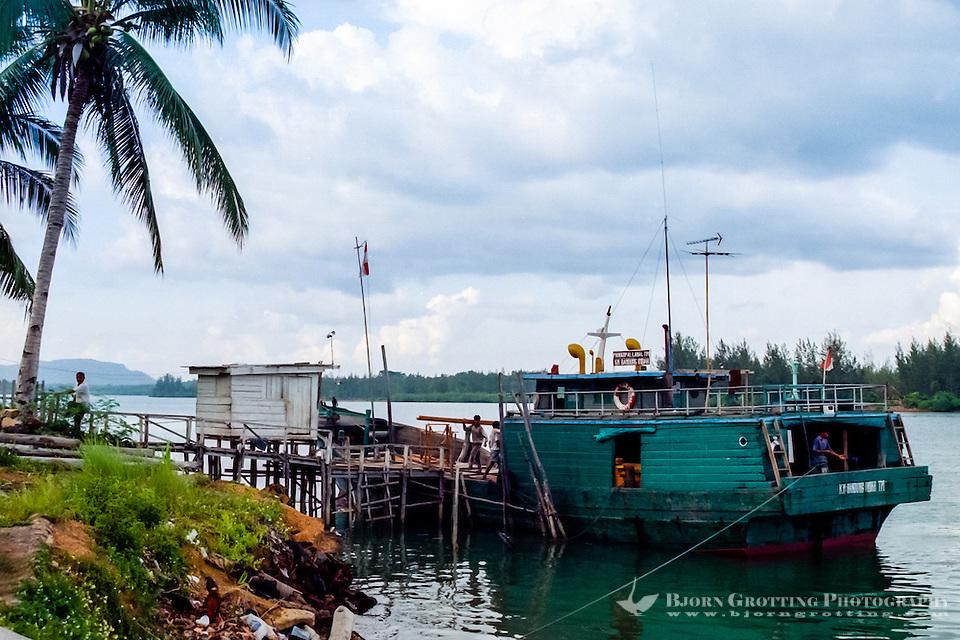 Riau Islands, Bintan. Small wooden cargo vessel at Kijang, south Bintan. (Bjorn Grotting)