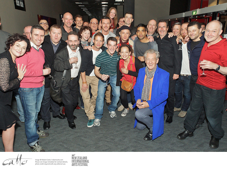 Cast of Frantic Assembly / National Theatre of Scotland's production, Beautiful Burnout, met up with guests from The Hobbit at a function after their opening night at the New Zealand International Arts Festival in Wellington. (© Robert Catto / robertcatto.com)