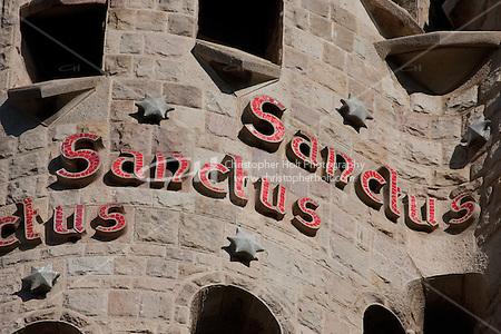 Sagrada Familia Barcelona Photography shoot in 2008 by Christopher Holt (Christopher Holt LTD - LondonUK/Christopher Holt LTD)