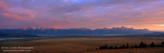 Sunrise on the Teton Mountains and Jackson Hole in Grand Teton National Park (James Cowlin)