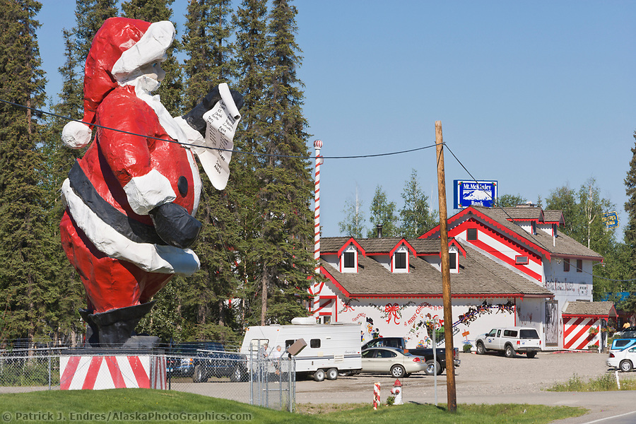 Alaska tourism photos: Santa Claus House, North Pole, Alaska. (Patrick J. Endres / AlaskaPhotoGraphics.com)