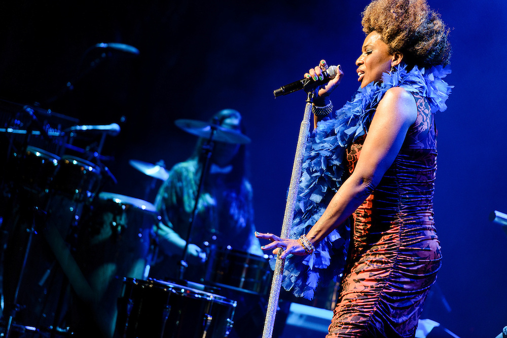 Photos of the singer Macy Gray performing at Beacon Theatre, NYC. July 17, 2012. Copyright © 2012 Matthew Eisman. All Rights Reserved. (Photo by Matthew Eisman/ FilmMagic)