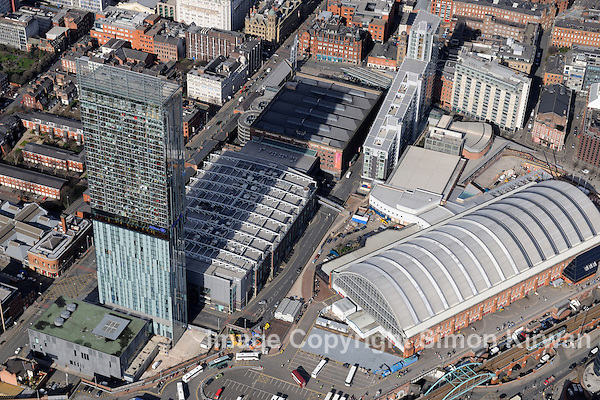 Beetham Hilton Tower & Manchester Central Convention Complex from the Air - aerial photography by Simon Kirwan