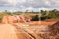 Altamira, Para State, Brazil. Building work on the access roads for the construction of the Belo Monte hydroelectric dam. (Sue Cunningham/SCP)