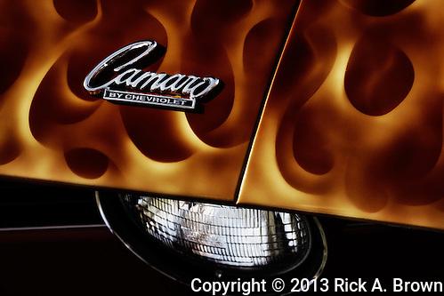 Detail of 1969 Chevrolet Camaro at WAAAM Traffic Jam. (Rick A. Brown)