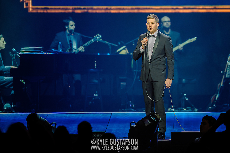 WASHINGTON, DC - September 22nd, 2013 - Michael Bublé performs at the Verizon Center in Washington D.C. Bublé's latest album, To Be Loved, was his fourth consecutive #1 album on the US Billboard charts. (Photo by Kyle Gustafson /  For The Washington Post) (Kyle Gustafson/For The Washington Post)