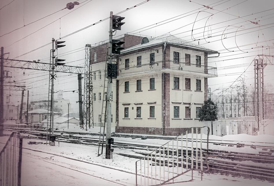 View of Leningradsky Station railway in Moscow (Daniel Korzeniewski)