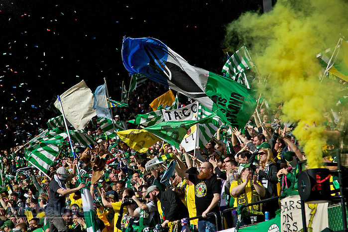 March 6, 2016; Portland, OR, USA; Portland Timbers vs Columbus Crew in a preseason match at Providence Park. Photo: Craig Mitchelldyer-Portland Timbers (Craig Mitchelldyer)