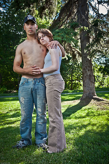 Israel Galvez and Rachel Mead at Valley of the Moon Park, Anchorage (Clark James Mishler)