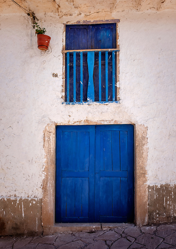 MARAS, PERU - CIRCA OCTOBER 2015: Front door in the Maras village in the Cusco region known as Sacred Valley (Daniel Korzeniewski)