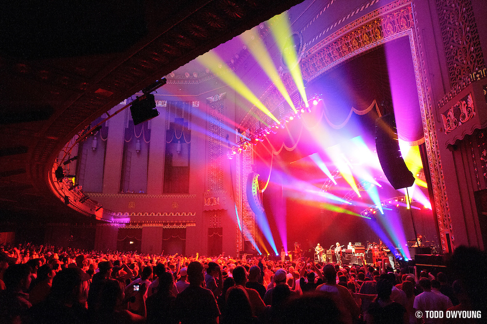 Atmosphere during Widespread Panic's performance at the Peabody Opera House in St. Louis on October 11, 2011. (Todd Owyoung)