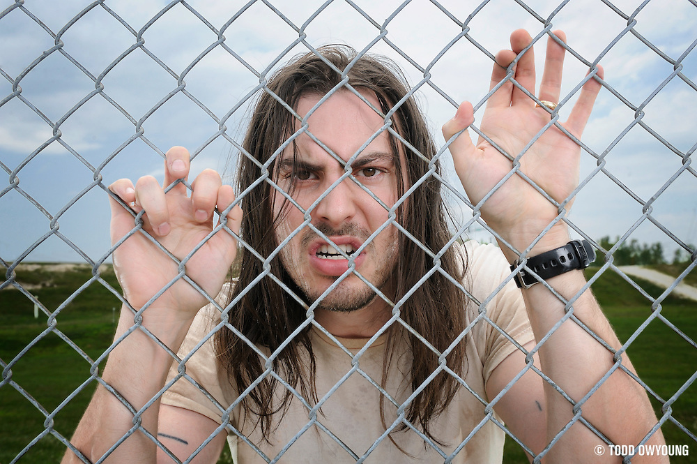Andrew W.K. photographed backstage on Warped Tour, July 5, 2010 (Todd Owyoung)
