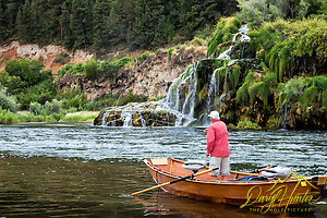 Fly-fishing in Paradise. Jim Osterhout tries to tease a trout up from below Fall Creek Falls in Swan Valley Idaho. (Daryl L. Hunter/© Daryl L. Hunter)