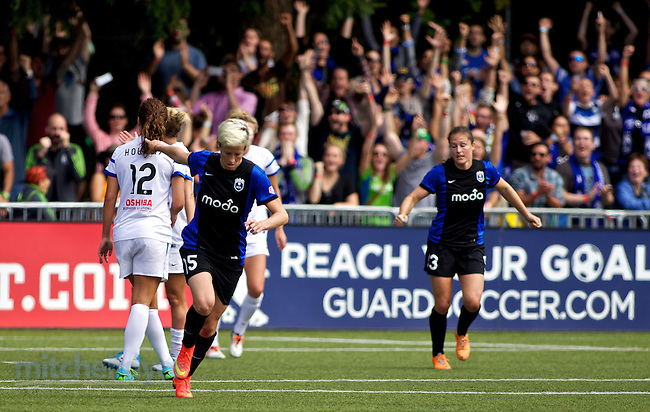 TUKWILA, WA - AUGUST 31: Megan Rapinoe #15 of Seattle Reign FC reacts after scoring a goal in the second half of the National Women's Soccer League Championship on August 31, 2014 at Starfire Stadium in Tukwila, Washington.  (Photo by Craig Mitchelldyer/Getty Images) *** Local Caption *** Megan Rapinoe (Craig Mitchelldyer/Getty Images)