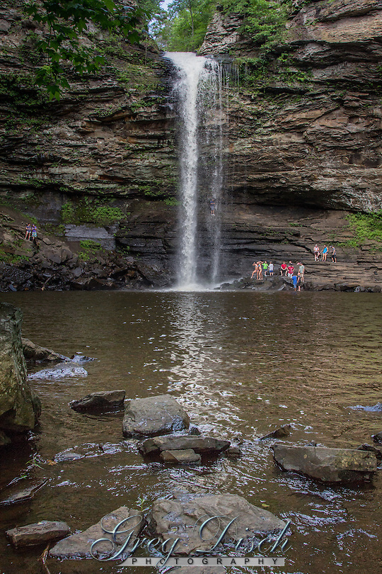 Cedar Falls is a spectacular 94 foot waterfall in Petit jean State Park near Morilton Arkansas.  Cedar Falls is one of the tallest continuously flowing waterfalls in the state. (Greg Disch)
