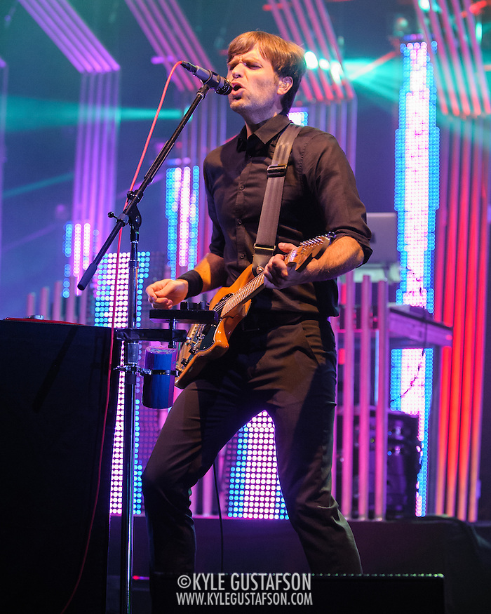COLUMBIA, MD - June 18th, 2013 - Ben Gibbard of the Postal Service performs at Merriweather Post Pavilion in Columbia, MD on their 10th Anniversary Give Up tour. (Photo by Kyle Gustafson) (Kyle Gustafson)