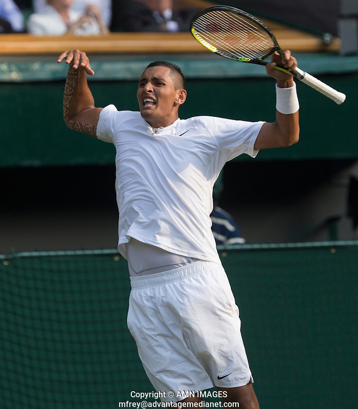 NICK KYRGIOS (AUS) The Championships Wimbledon 2014 - The All England Lawn Tennis Club -  London - UK -  ATP - ITF - WTA-2014  - Grand Slam - Great Britain -  30th June 2014.  © AMN IMAGES (FREY/FREY- AMN Images)